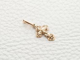 Кулоны и подвески - Крест из комбинированного золота, 0