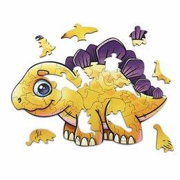 Пазлы - Деревянный пазл Woodlandtoys «Динозавры», деревянная коробка 55 эл., 0