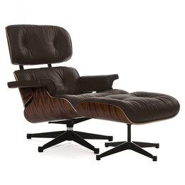 Кресла - Кресло кожаное с оттоманкой венге Eames Style…, 0