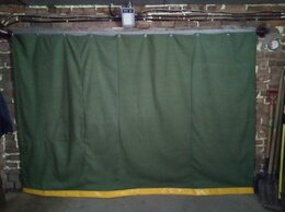 Тенты строительные - Шторы гаражные Брезент, 0