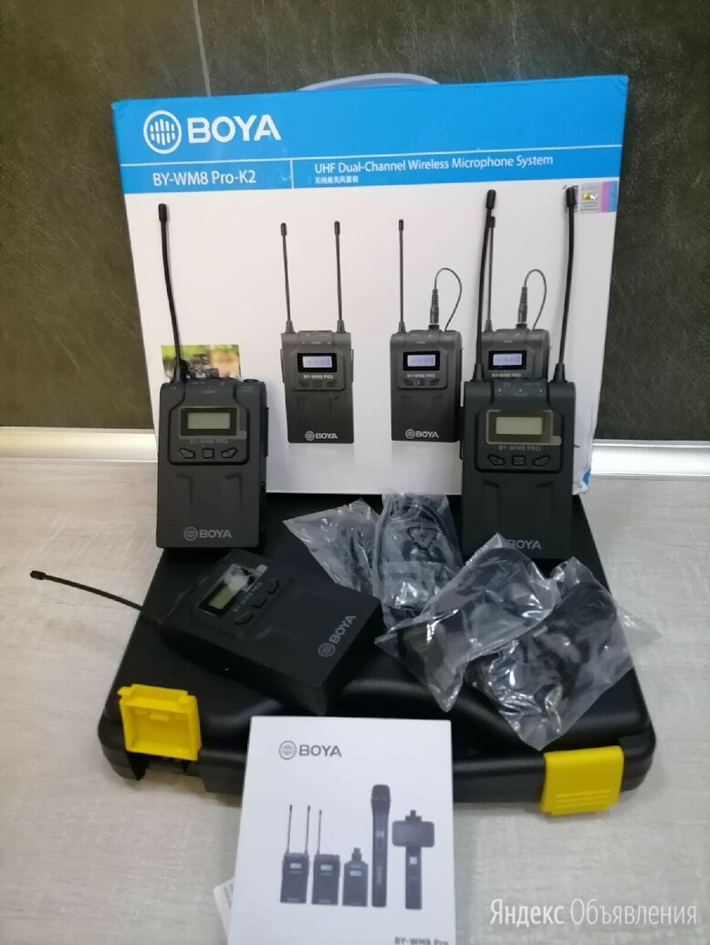 Беспроводная микрофонная система Boya BY-WM8 Pro-K2 по цене 19500₽ - Рации, фото 0