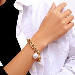 Браслеты - В богемном стиле женский браслет с жемчужиной, 0