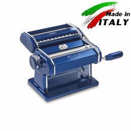 Пельменницы, машинки для пасты и равиоли - Marcato Design Atlas 150 Color Blu ручная тестораскатка с насадкой лапшерезка, 0
