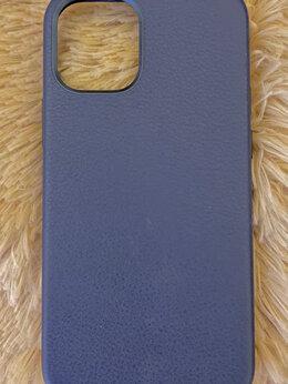 Чехлы - Чехол синий кожаный ESR для IPhone 12mini, 0