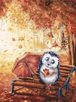 Раскраски и роспись - Картины по номерам Paintboy Осенний ежик, 0
