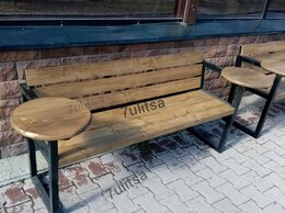 Скамейки - Скамейка со столиками, 0