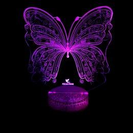 """Ночники и декоративные светильники - 3D LED светильник-ночник """"Бабочка"""", 0"""