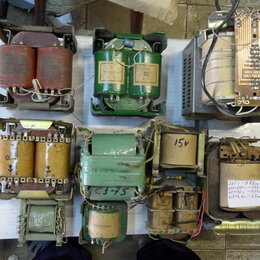 Блоки питания - трансформаторы разные, диоды и тиристоры, радиаторы для них., 0