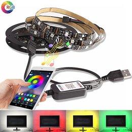 Светодиодные ленты - Лента светодиодная RGB (Bluetooth) 1м (L07), 0