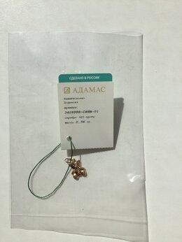 Комплекты - Кулон подвеска новая мишка серебро золото Адамас…, 0