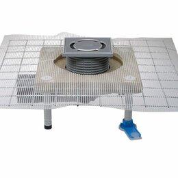 Оборудование для аквариумов и террариумов - HL80C Трап с затвором, с консолью из полимербетона и рулонной арматурной сеткой, 0