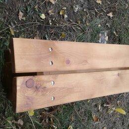 Скамейки - Скамейка деревянная  125х40х32 см, 0