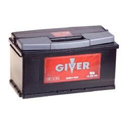 Аккумуляторы и комплектующие - Аккумулятор автомобильный GIVER 6CT-90.0 90Ач 690А Обратная полярность, 0
