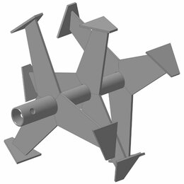 Спецтехника и навесное оборудование - Фреза лепестковая вал 30 мм.D360 мм. шир. раб. части 230 мм.(3 ряда) дл. втул..., 0