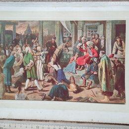 Картины, постеры, гобелены, панно - гравюра Суд Стеньки Разина ,19 век, 0