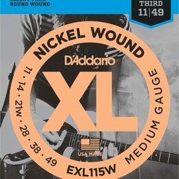 Струны - D'Addario EXL115W набор струн для 6-струнной электрогитары, размер 11-49, 0
