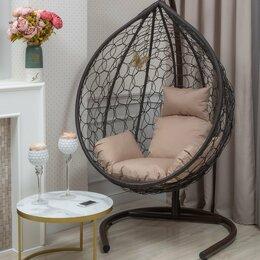 Подвесные кресла - Подвесное кресло BUENO STRONG-XL (большое) коричневое из иск. ротанга, 0