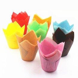 Выпечка и запекание - Бумажные формы для маффин «Тюльпан» d50 h88 /…, 0