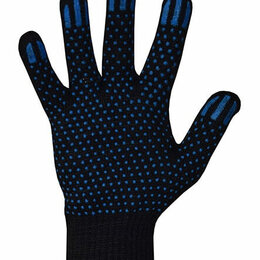 Средства индивидуальной защиты - Перчатки хлопчатобумажные 7,5 класс  6 нитей ПВХ точка, 0