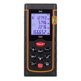 Измерительные инструменты и приборы - Лазерная рулетка RGK D60 New, 0