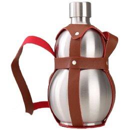 Этикетки, бутылки и пробки - Бутыль-нерж 1,5 л ГОРЛЯНКА (в коже), 0