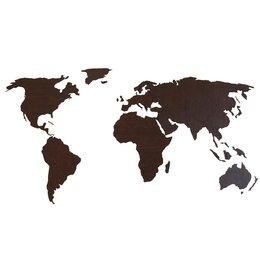 Картины, постеры, гобелены, панно - Деревянная карта мира 80х40 см (Венге), 0