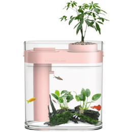 Игровые наборы и фигурки - Акваферма Xiaomi Descriptive Geometry Amphibious Fish Tank (Pink) (HF-JHYGQC001), 0