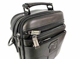 Сумки - Кожаная мужская сумка Fuzhinino 6603 black, 0