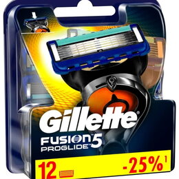 Бритвы и лезвия - Лезвия Gillette Fusion Proglide 5 12 шт, 0