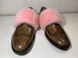 Туфли - Кожаные Броги с мехом норки от Givenchy, 0