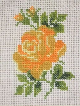 """Рукоделие, поделки и товары для них - Вышивка """"Чайная роза"""", рамка в подарок, 0"""
