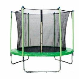 Каркасные батуты - Батут с защитной сеткой 244см (зеленый), 0