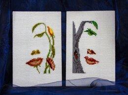 """Картины, постеры, гобелены, панно - Интерьерные вышивки """"Лицо-птицы"""", """"Лицо-цветы"""", 0"""