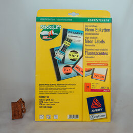 Бумага и пленка - Самоклеящаяся этикетки удаляемые 63.5х29.6мм…, 0
