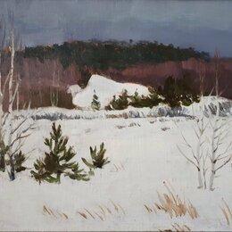 """Картины, постеры, гобелены, панно - Пейзаж """"Зимние дали"""", 0"""