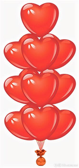 Фонтан Красные Сердца по цене 1150₽ - Цветы, букеты, композиции, фото 0