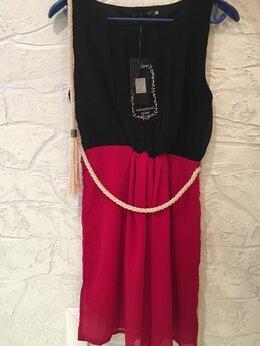 Платья - Новое шифоновое платье с оригинальным поясом, 0