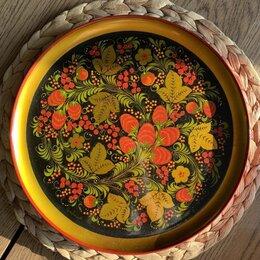 Декоративная посуда - Деревянная тарелка под хохлому, 0