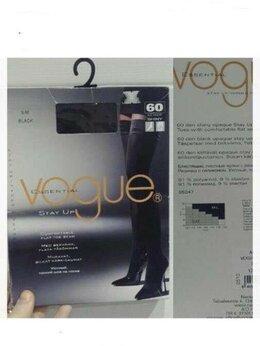Колготки и носки - Чулки новые Voque 60 DEN плотные черные на…, 0