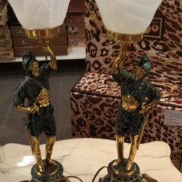 Настольные лампы и светильники - Светильник настольный Стражники ( два штуки ) Virtus (Испания) Материал: бронза, 0