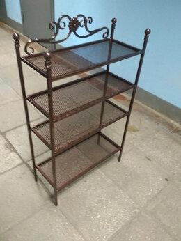 Стеллажи и этажерки - Этажерка кованая металлическая Э-1, 0