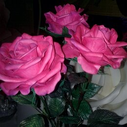 Цветы, букеты, композиции - Декоративные розы в вазончики из искусственной замши в любом цвете. , 0
