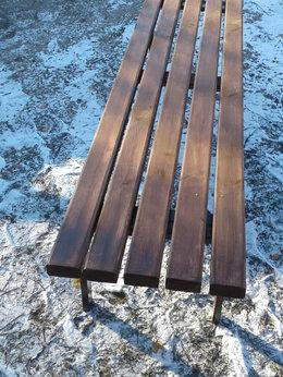 Скамейки - Скамейка садовая  на мет. каркасе с деревянным…, 0