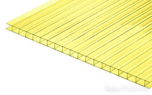 Сотовый поликарбонат CARBOGLASS ГОСТ Желтый 8 мм (2,1*6 м) по цене 9786₽ - Поликарбонат, фото 0