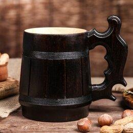 Бокалы и стаканы - Кружка пивная деревянная «Келлербир» 0,3л Доброе дерево, 0