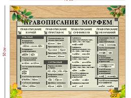 Рекламные конструкции и материалы - Стенд «Правописание морфем» (1 плакат), 0