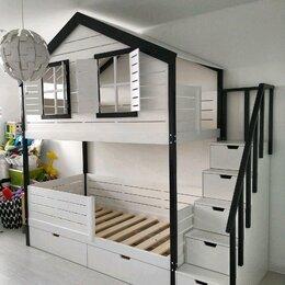 Кроватки - Кроватка домик, 0