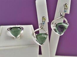 Комплекты - Комплект серебро с турмалином кварцем и…, 0