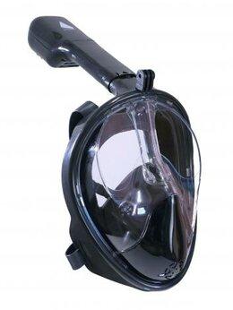 Маски - Маска панорамная Sailboat черная FM01 PVC L/XL, 0