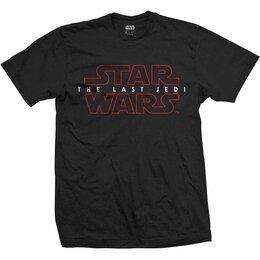 Футболки и майки - Футболка Star Wars - Episode VIII: The Last Jedi Logo Black (L, XL) США, 0